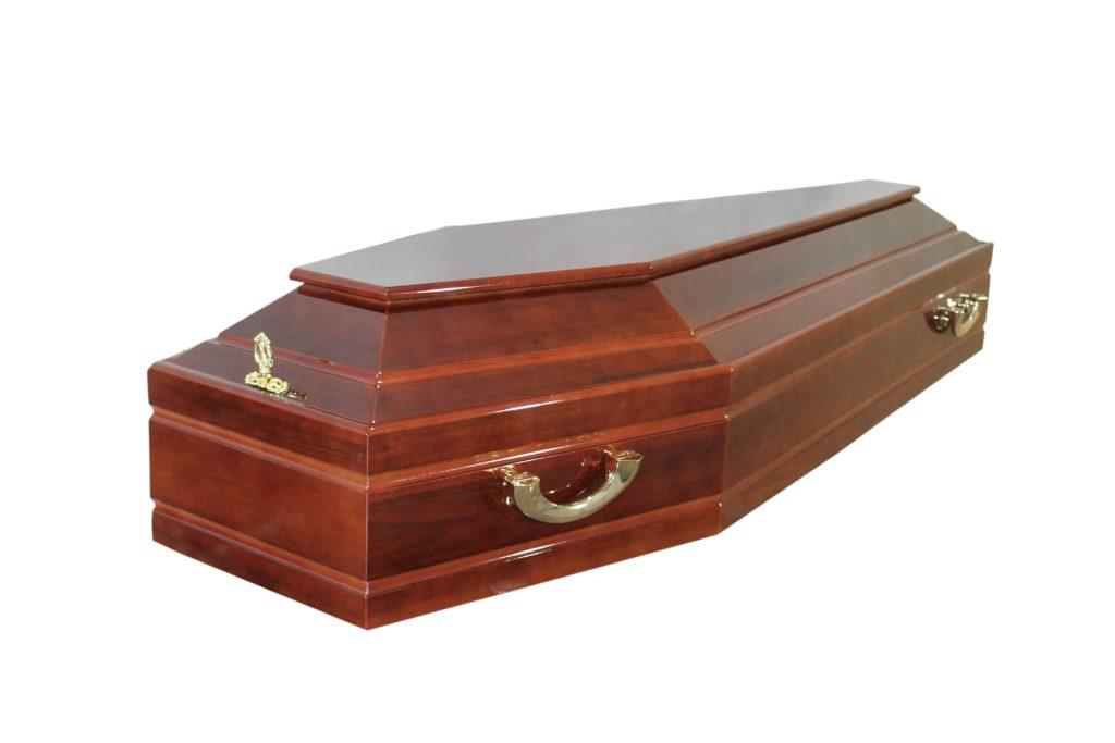 недорогой гроб классической окраски